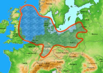 Ausdehnung des Zechstein-Beckens vor ca. 255 Millionen Jahren